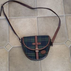Luigi Italian Design Purse Tartan and Leather